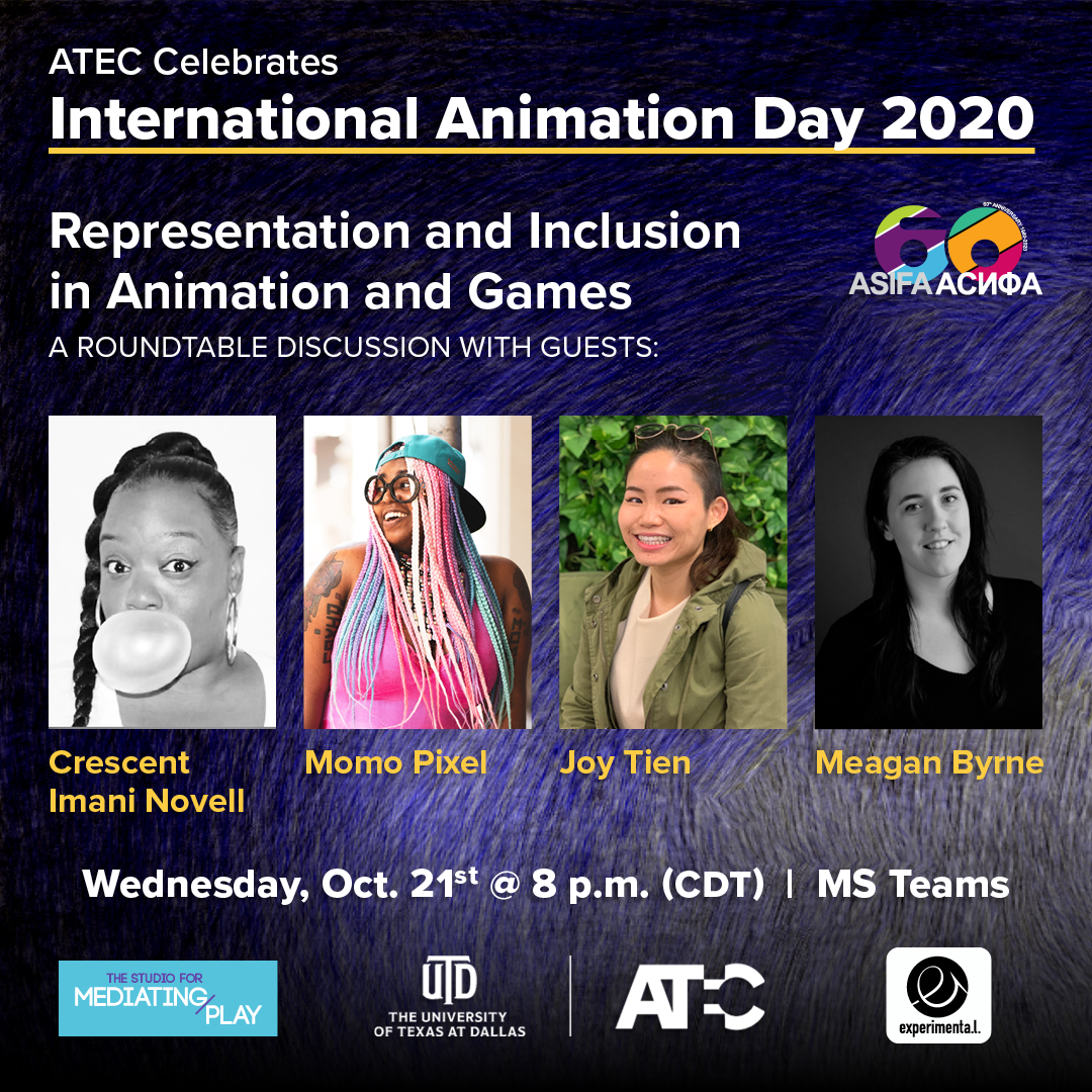 Poster for Representation and Inclusion in Animation and Games